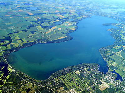Photograph - G-036 Green Lake Wisconsin Summer To South by Bill Lang