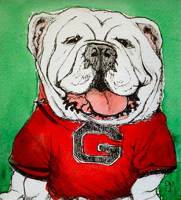 Mascot Drawing - G Dawg by Pete Maier