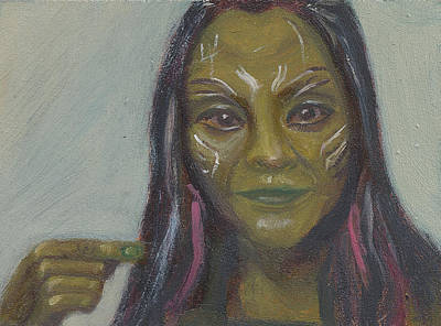 Painting - G Is For Gamora by Jessmyne Stephenson