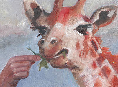 Painting - G Is For Giraffe by Jessmyne Stephenson