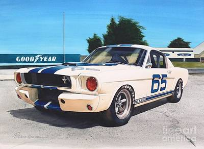 Mustang Car Painting - G T 350 by Robert Hooper