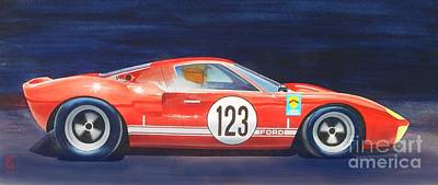 Gt40 Painting - G T 40 by Robert Hooper