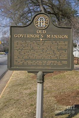 Ga-005-1b Old Governors Mansion Art Print by Jason O Watson