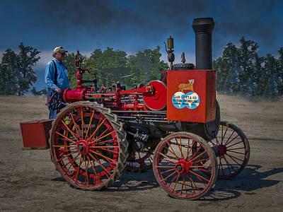 Keck Photograph - Gaar Scott Steam Tractor by F Leblanc