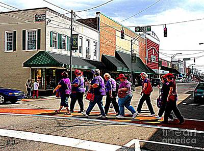 Red Hat Society Photograph - Gabbey Road by Geri Glavis