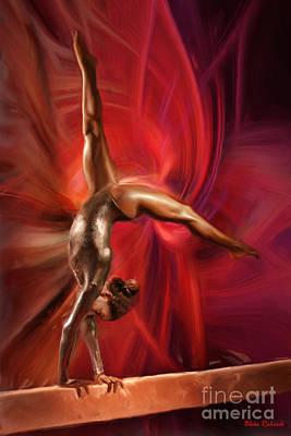 Gabby Douglas Gymnasts Art Print