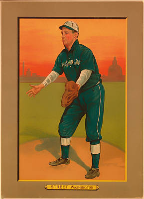 Baseball Drawing - Gabby Street Baseball Card 1911 by Mountain Dreams
