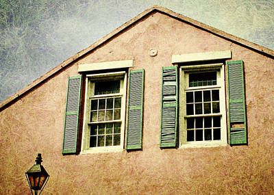 Digital Art - Empty. Gable With Twin Windows by Valerie Reeves