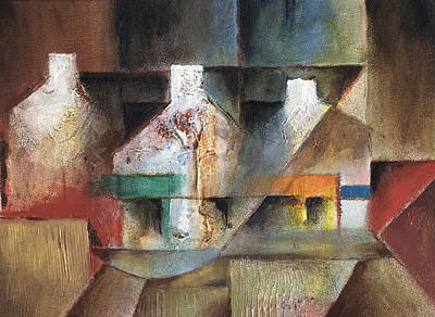 Painting - Gables by Val Byrne