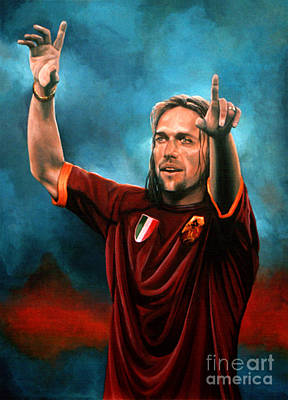 Football Painting - Gabriel Batistuta by Paul Meijering