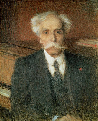 Impressionist Photograph - Gabriel Faure 1845-1924 Oil On Canvas by Ernest-Joseph Laurent