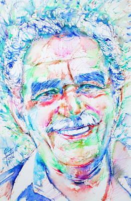 Gabriel Garcia Marquez - Portrait.3 Art Print