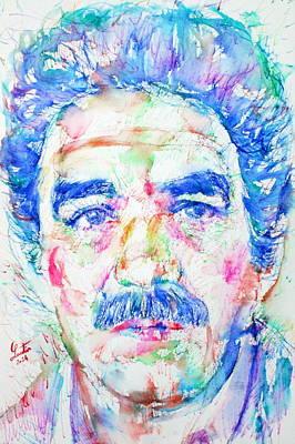 Gabriel Garcia Marquez - Portrait.4 Art Print
