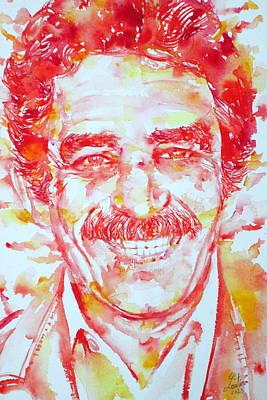 Gabriel Garcia Marquez - Portrait.1 Art Print