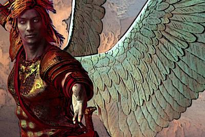 Saint Gabriel Painting - Gabriel The Archangel by Suzanne Silvir