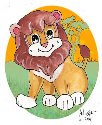 Painting - Gabriel The Lion by John Keaton