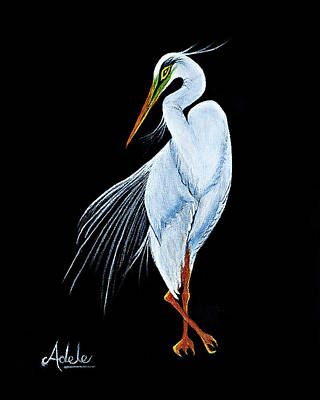 Florida Birds Painting - Gabriella by Adele Moscaritolo