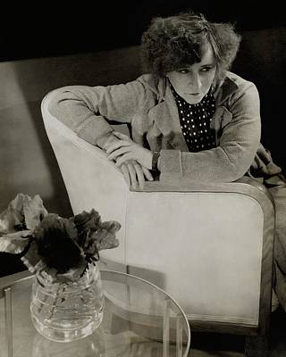 Gabrielle Sidonie Colette Sitting On An Armchair Art Print by Edward Steichen