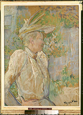 Post-impressionist Photograph - Gabrielle The Dancer, 1890 Oil On Canvas by Henri de Toulouse-Lautrec