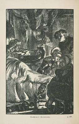 Gabriel's Marriage Art Print by British Library