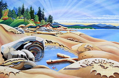 Cape Estate Painting - Gabriola Island by Elissa Anthony