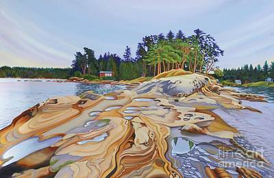 Cape Estate Painting - gabriola Island Galleries Unseen by Elissa Anthony