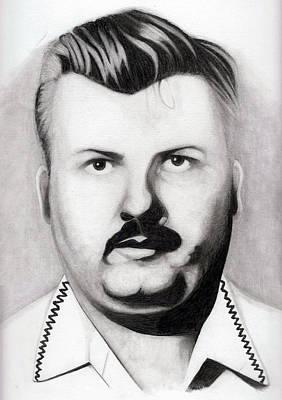 Serial Killer Drawing - Gacey by Kris Milo