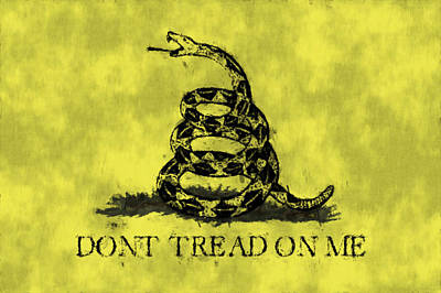 Gadsden Flag - Dont Tread On Me Art Print by World Art Prints And Designs