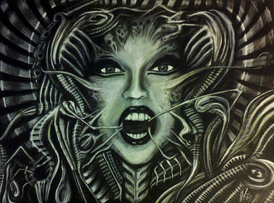Hr.giger Painting - Gaga by Jeremy Sanchez
