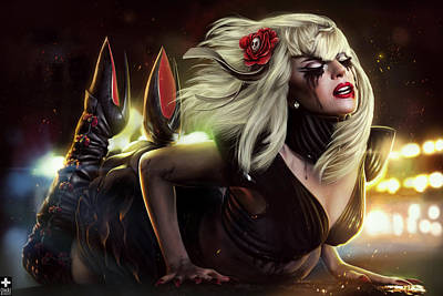 Gaga Art Print by Omri Koresh