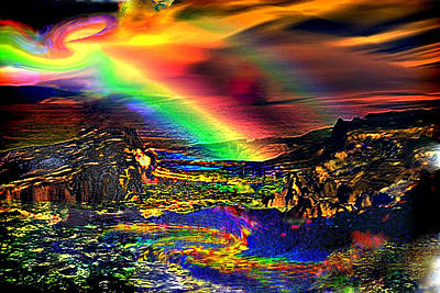 Gaia Digital Art - Gaia Forming Light Into Matter by Rebecca Phillips