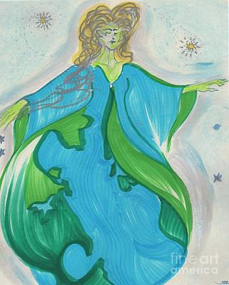 Jrr Drawing - Gaia Gaea By Jrr by First Star Art
