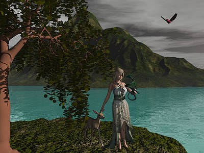 Gaia Digital Art - Gaia by Michele Wilson