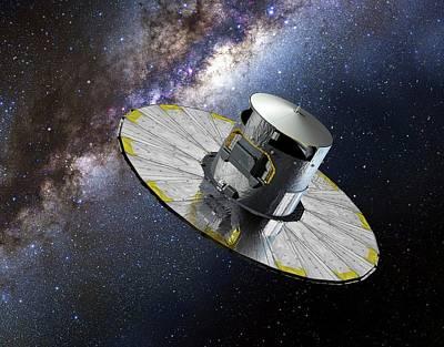 Gaia Space Probe Art Print by European Space Agency/d. Ducros