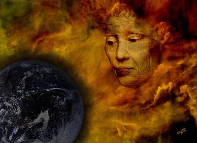 Gaia Digital Art - Gaia Wept by A E Ivey