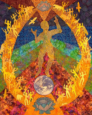 Gaia Mixed Media - Gaia's Dance by Liz Copeland