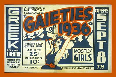 Gaieties Of 1936 Print by Unknown