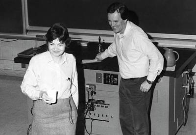 Quantum Theory Photograph - Gail Hanson And John Stack by Emilio Segre Visual Archives/american Institute Of Physics