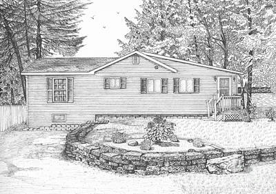 Drawing - Gail's Cottage by Michelle Welles
