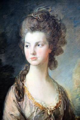 Gainsborough's The Hon. Mrs. Thomas Graham Up Close Art Print