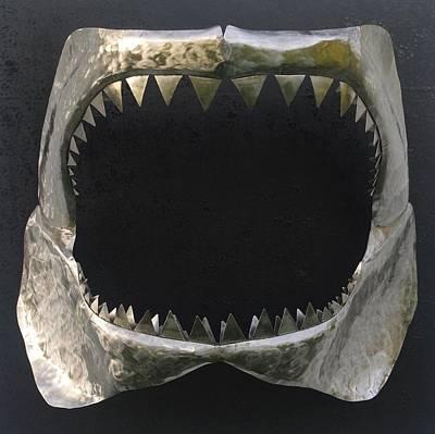 Gaint Shark Jaw Sculpture Art Print by Stuart Peterman