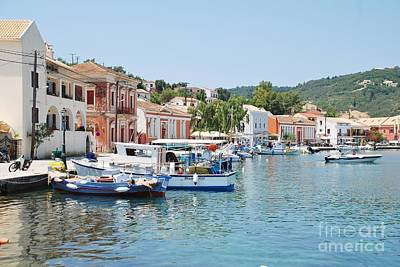 Gaios Harbour On Paxos Art Print