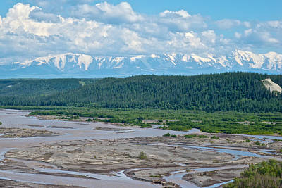 Elias Digital Art - Gakona River Backed By Wrangell-saint Elias Mountains From Glen Highway-ak by Ruth Hager
