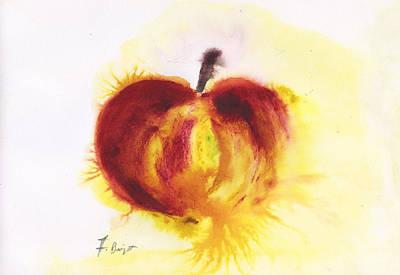 Gala Apple  Art Print by Frank Bright
