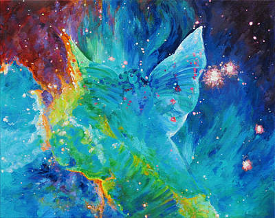 Galactic Angel Art Print by Julie Turner