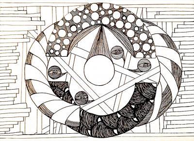Emerging Artist Drawing - Galactic by Anita Lewis