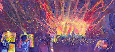Painting - Galactic At Arise Music Festival by David Sockrider
