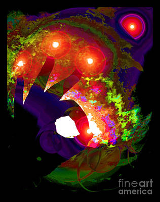 Galactic Intervention Art Print by Susanne Still