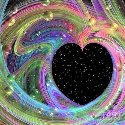 Digital Art - Galactic Love by Peggy Hughes