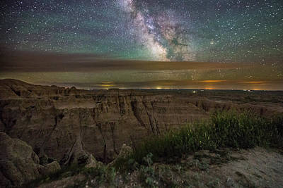 Badlands Photograph - Galactic Pinnacles by Aaron J Groen